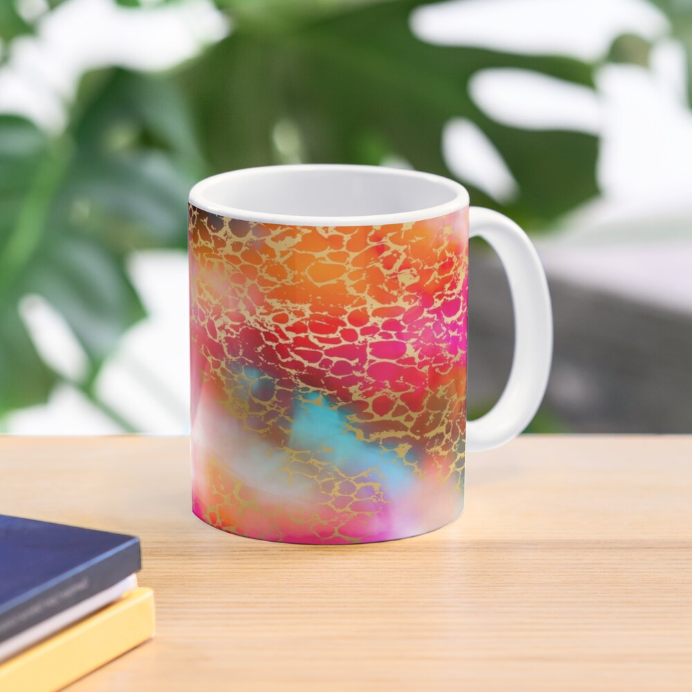 Hot gold color fancy Mug