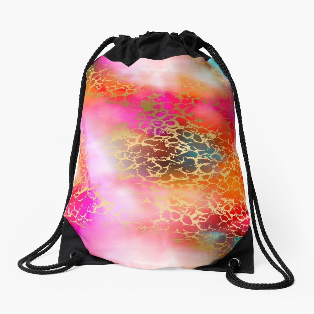 Hot gold color fancy Drawstring Bag