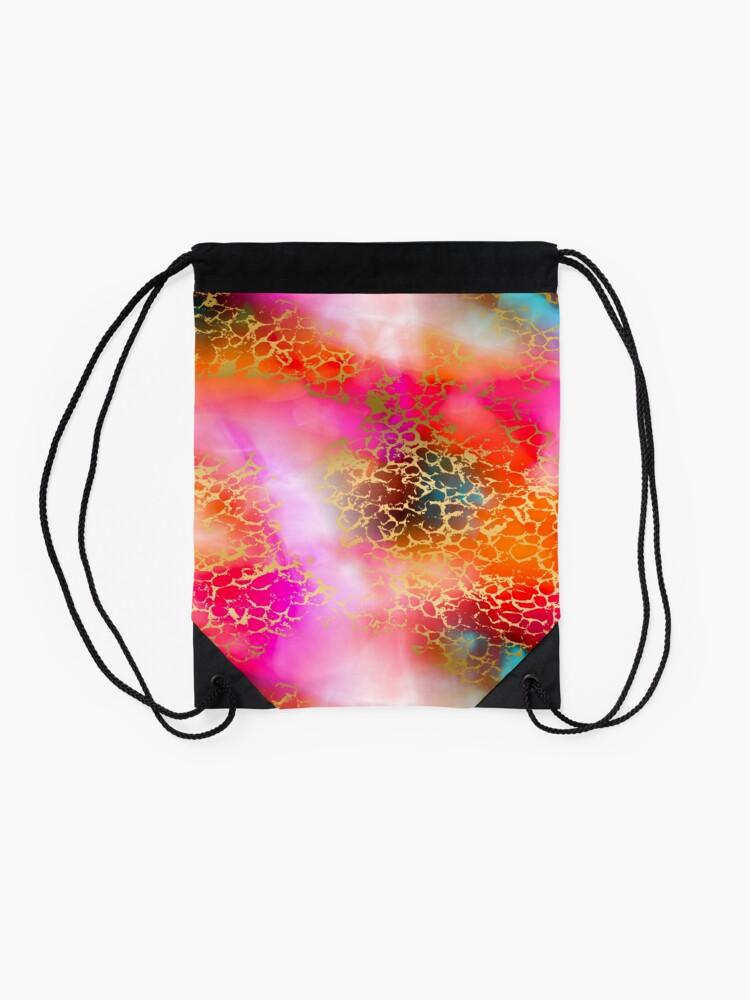 Alternate view of Hot gold color fancy Drawstring Bag