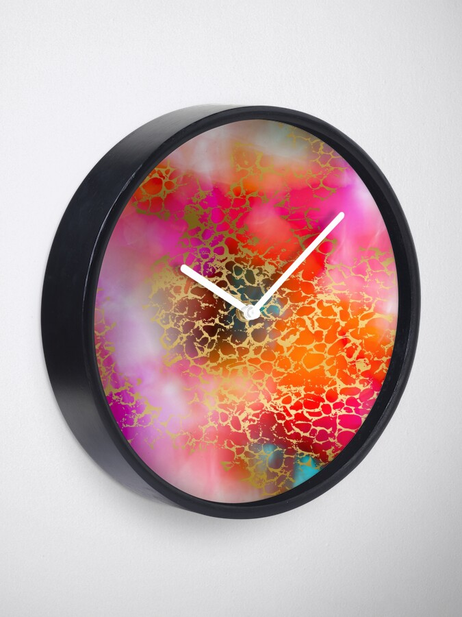Alternate view of Hot gold color fancy Clock