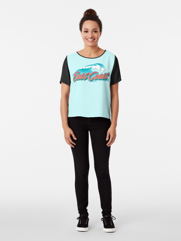 Alternate view of East Coast Typography Chiffon Top