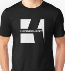Konsequent Records Logo White Slim Fit T-Shirt