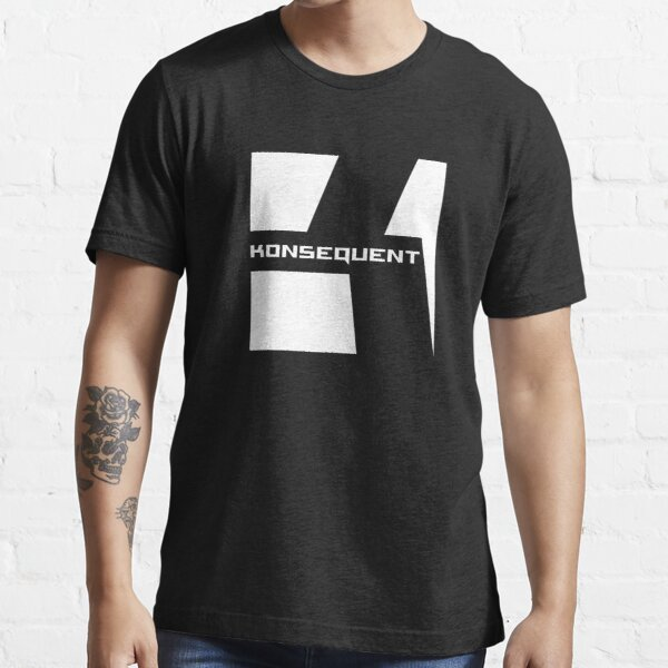 Konsequent Records Logo White Essential T-Shirt
