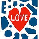 Love Heart Paper Cut Illustration by Adam Regester