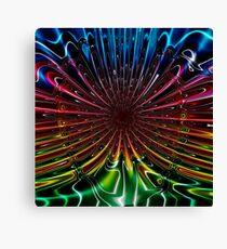 Peacock (Abstract) Canvas Print