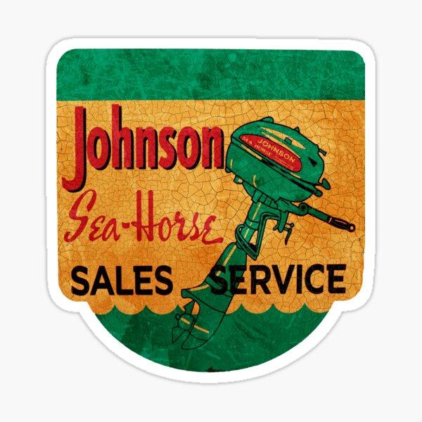Johnson Seahorse Vintage Outboard Motors USA Sticker