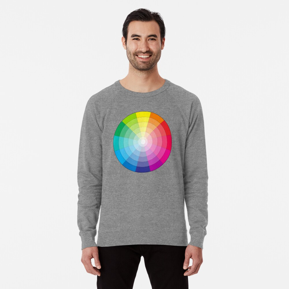 Sweatshirt léger «Cercle chromatique universel»