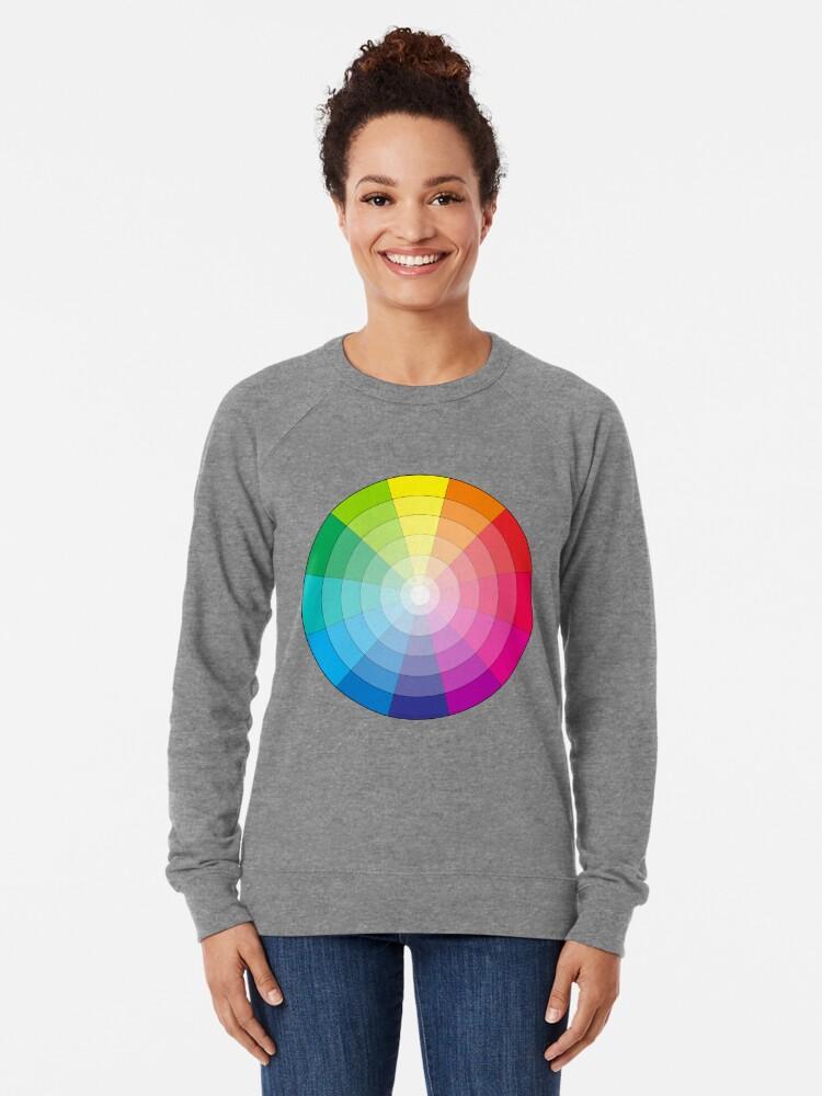 Sweatshirt léger ''Cercle chromatique universel': autre vue