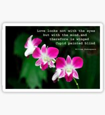 Orchids in Watercolour Quotation Sticker