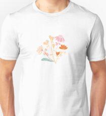 Sonnenschein am Waldblumenmuster Unisex T-Shirt