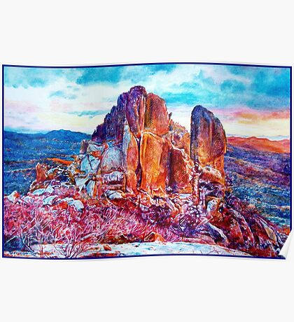 Cathedral Rock Sunset Poster