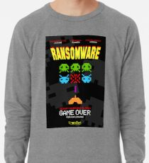 Ransomeware Space Invaders Lightweight Sweatshirt