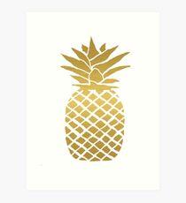 Goldfolie Ananas Kunstdruck