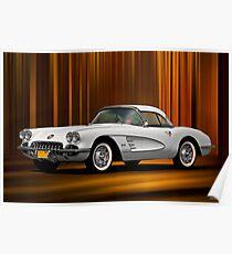 """1959 Chevrolet Corvette """"Center Stage"""" Poster"""