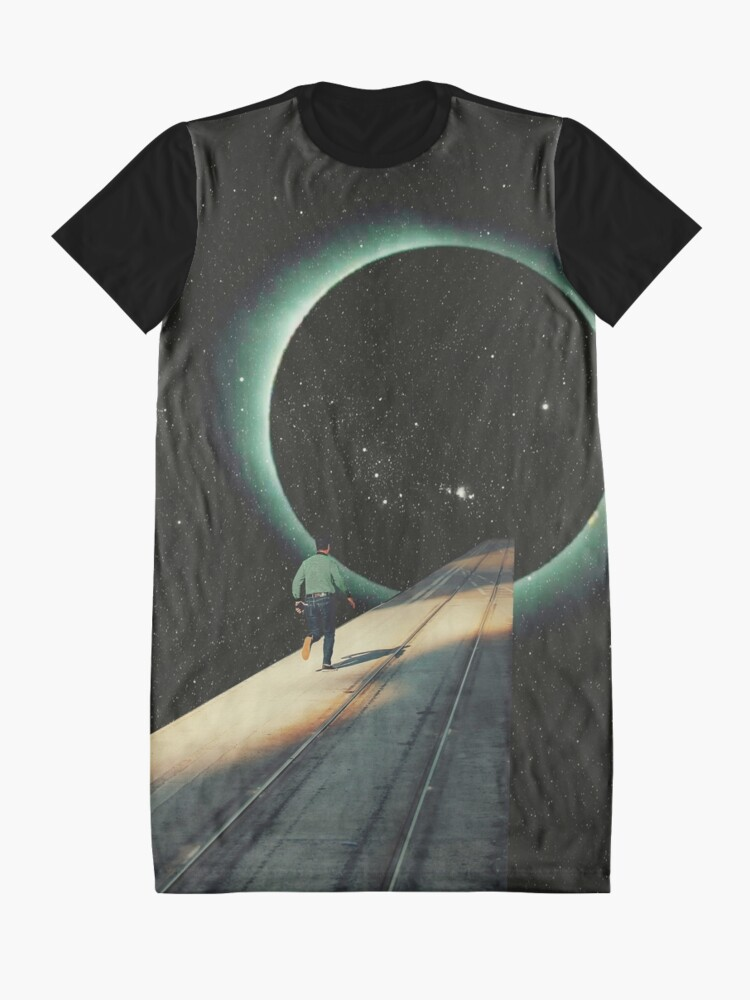 Alternate view of Escaping into the Void Graphic T-Shirt Dress