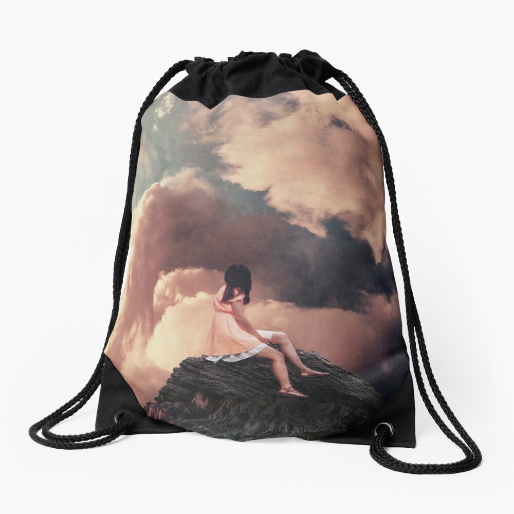 You came from the Clouds Drawstring Bag