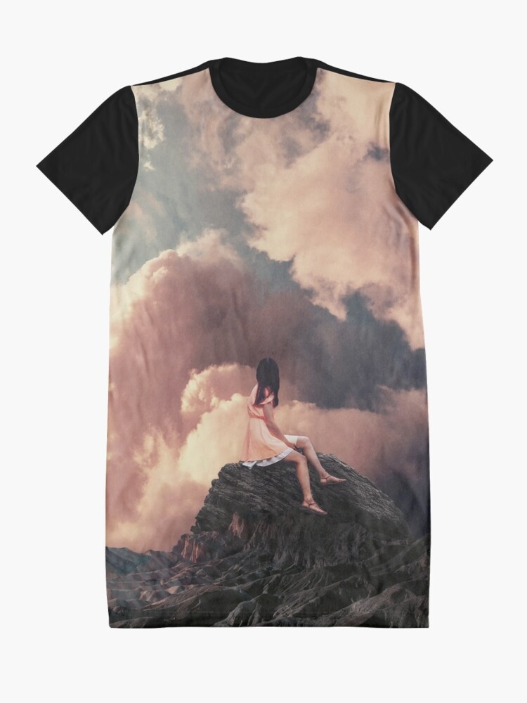 Alternate view of You came from the Clouds Graphic T-Shirt Dress