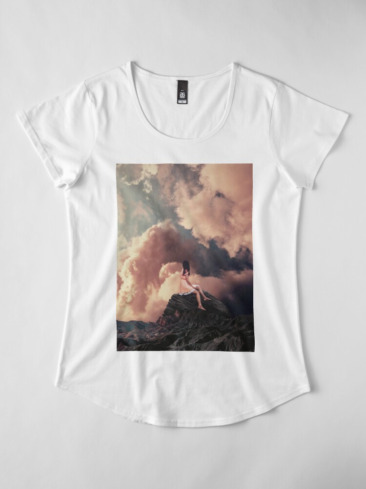 Alternate view of You came from the Clouds Premium Scoop T-Shirt