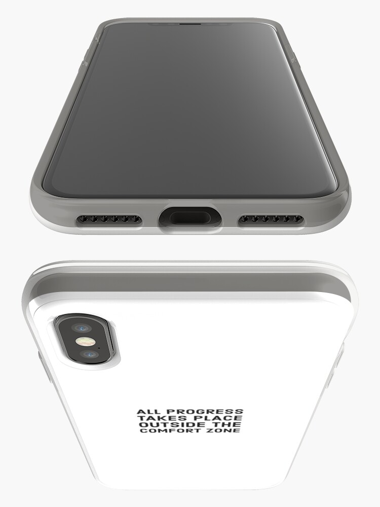 Alternate view of All progress takes place outside the comfort zone iPhone Cases & Covers