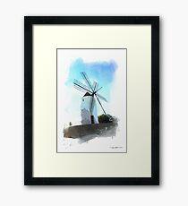 Ibiza windmill Framed Print