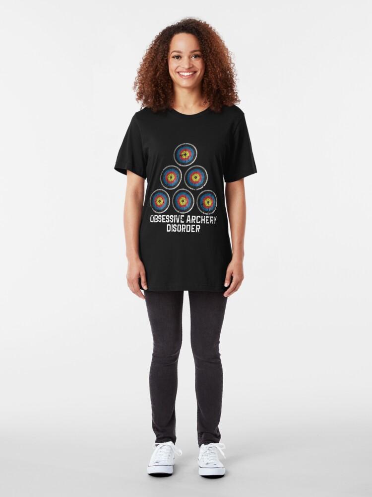 Alternate view of Archery hobby Slim Fit T-Shirt