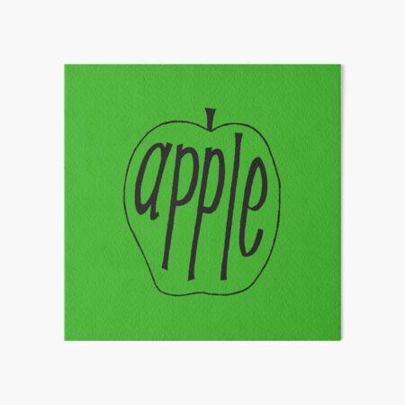 handlettered apple Art Board Print