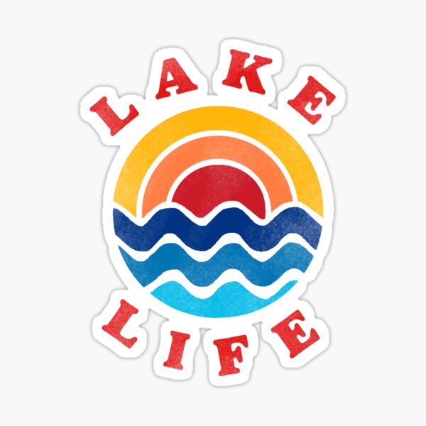 lake life retro aesthetic sticker Sticker
