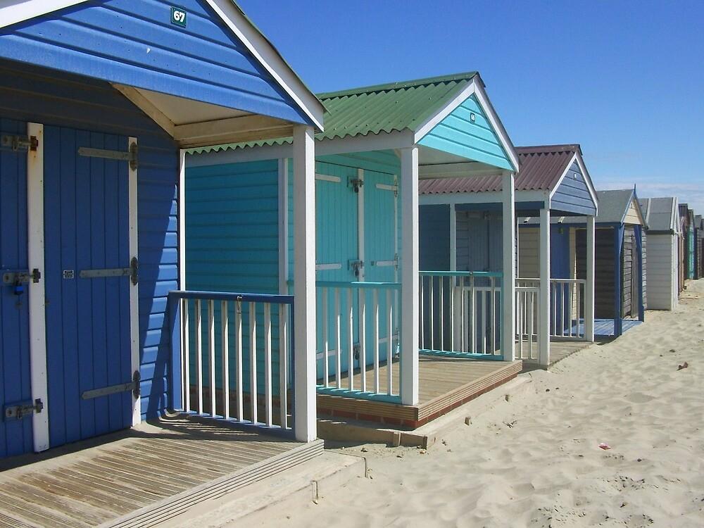 beach huts colour by purpleminx