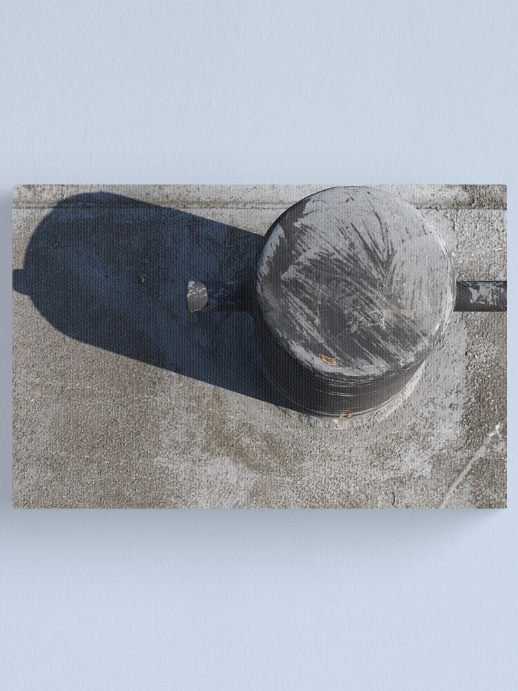 Alternate view of Bollard on the pier Canvas Print