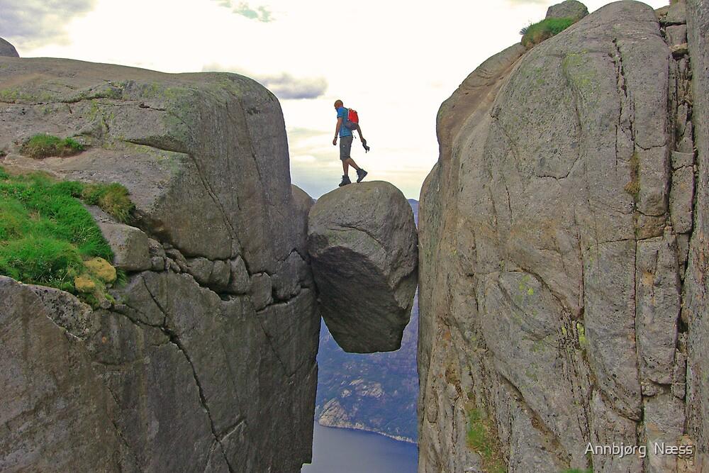 Pierre on the rock by Annbjørg  Næss