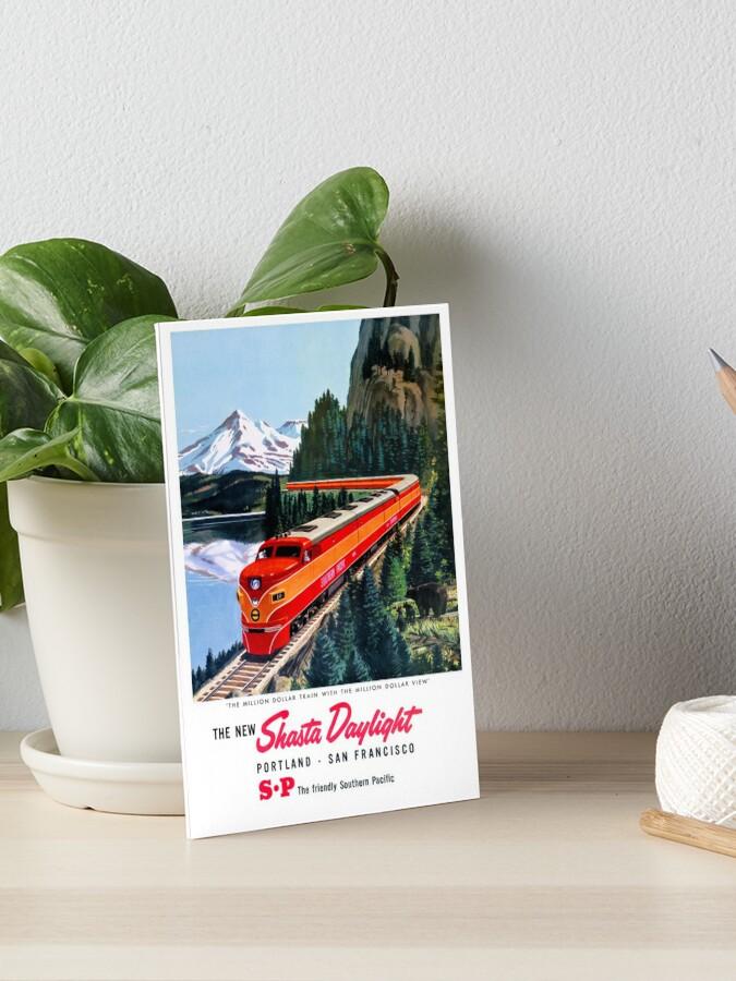 Shasta Daylight Portland San Francisco Railroad Travel Advertisement Art Poster