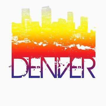 Denver Skyline T-shirt design by FlagSilhouettes