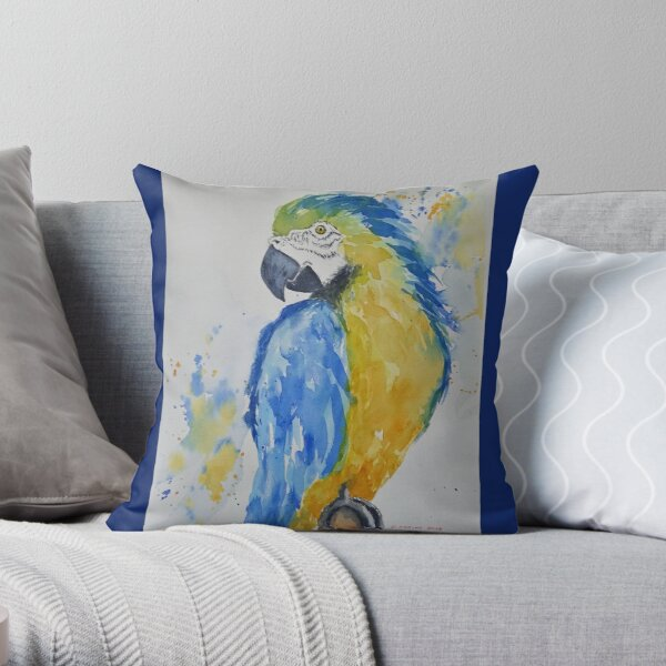 The bird is the word Throw Pillow