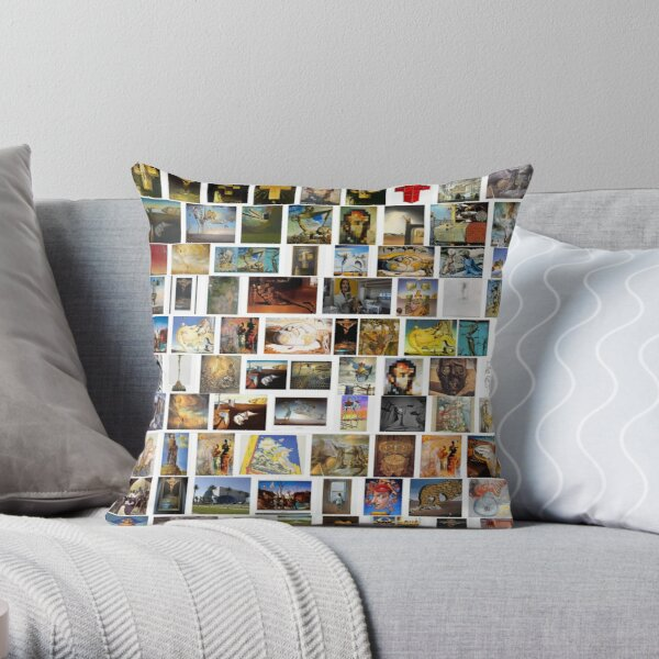 #collection, #pattern, #art, #design, paper, abstract, illustration, mosaic, decoration, old Throw Pillow