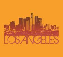 Los Angeles Skyline T-shirt Design