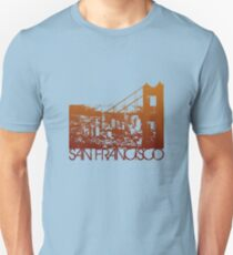 San Francisco Skyline T-shirt Design Unisex T-Shirt