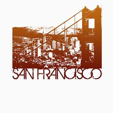 San Francisco Skyline T-shirt Design by FlagSilhouettes