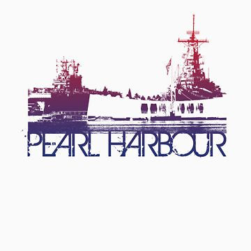 Pearl Harbour Skyline T-shirt Design by FlagSilhouettes