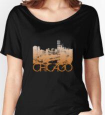 Chicago Skyline T-shirt Design Women's Relaxed Fit T-Shirt