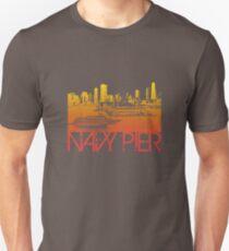 Chicago Navy Pier Skyline T-shirt Design Unisex T-Shirt