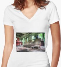 Railway Graveyard 05 Fitted V-Neck T-Shirt