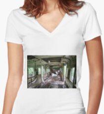 Railway Graveyard 06 Fitted V-Neck T-Shirt
