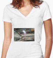Railway Graveyard 08 Fitted V-Neck T-Shirt