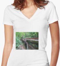 Railway Graveyard 09 Fitted V-Neck T-Shirt