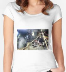 Railway Graveyard 10 Fitted Scoop T-Shirt