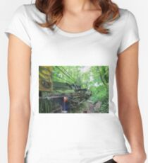 Railway Graveyard 11 Fitted Scoop T-Shirt
