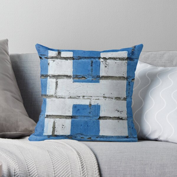 Letter H Building Ad Art Throw Pillow