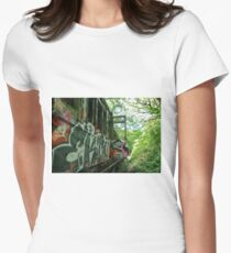 Railway Graveyard 13 Fitted T-Shirt