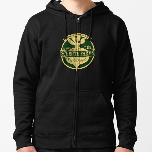 I enjoyed my stay at Schrute Farms (Green) Zipped Hoodie