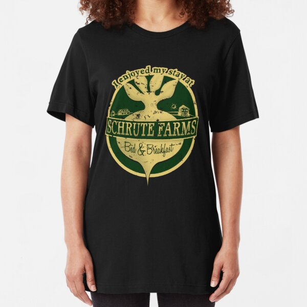 I enjoyed my stay at Schrute Farms (Green) Slim Fit T-Shirt